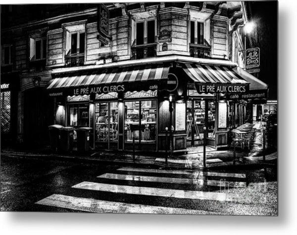 Paris At Night - Rue Bonaparte Metal Print