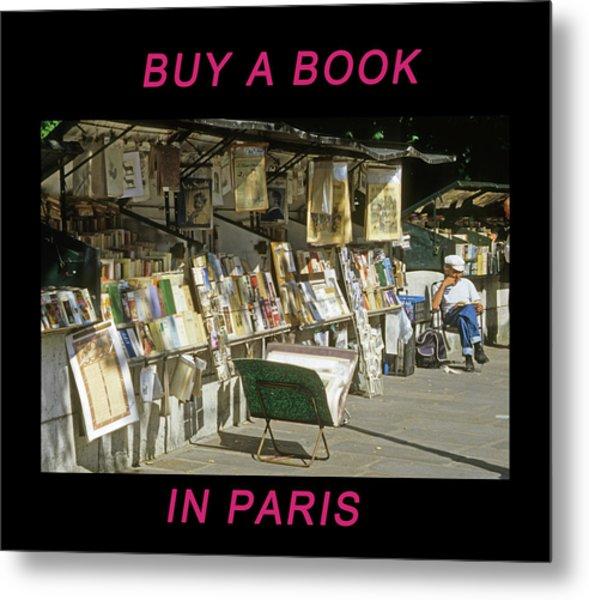 Paris Bookseller Metal Print