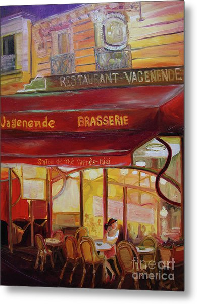 Metal Print featuring the painting Paris Night by Donna Hall