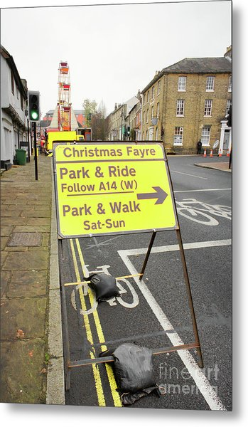 Park And Ride Sign Metal Print