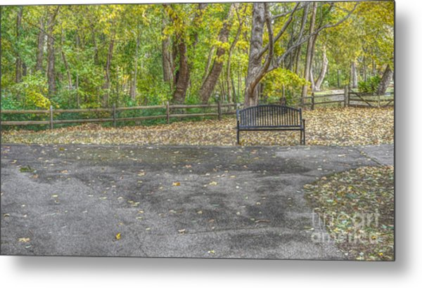 Park Bench @ Sharon Woods Metal Print