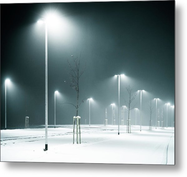 Parking Lot Metal Print by Photography By Andreas Strauch