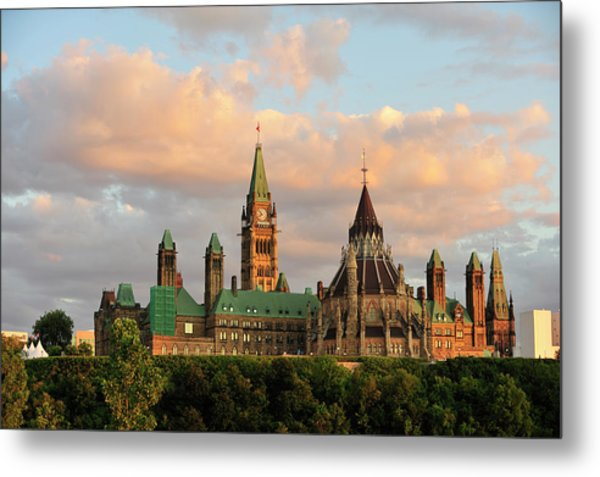 Parliament Building In Ottawa, Onratio Metal Print