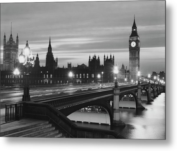 Parliament By Night Metal Print by Peter King