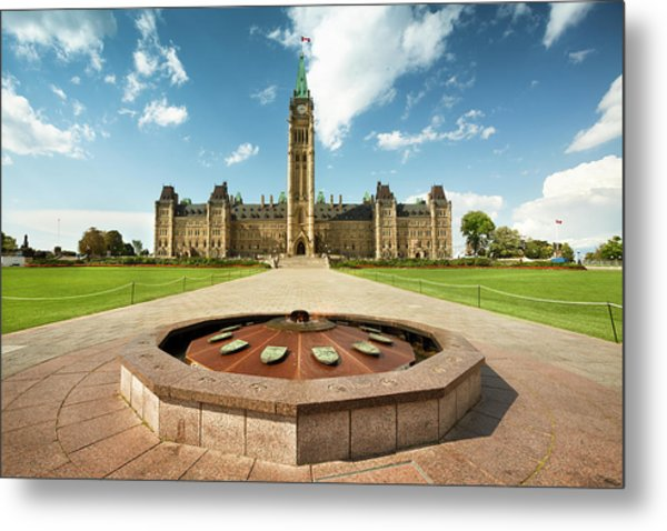 Parliament Hill In Ottawa Metal Print