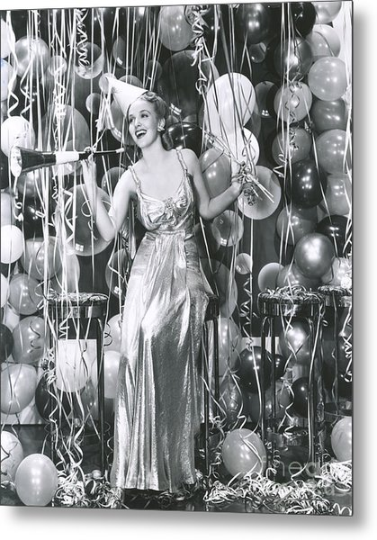 Partying Into The New Year Metal Print