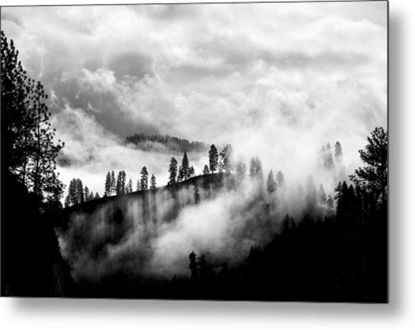 Passing Storm Central Idaho Mountains Metal Print