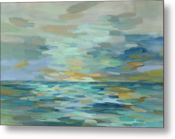 Pastel Blue Sea Metal Print by Silvia Vassileva