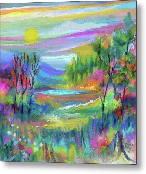 Pastel Landscape Metal Print