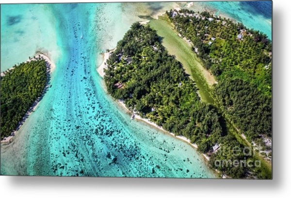 Bora Bora - Pathway To The Ocean Metal Print