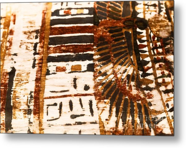 Metal Print featuring the tapestry - textile Pattern From The Past by Sue Harper