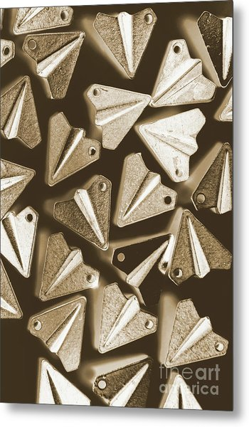 Patterned In Aviation Metal Print