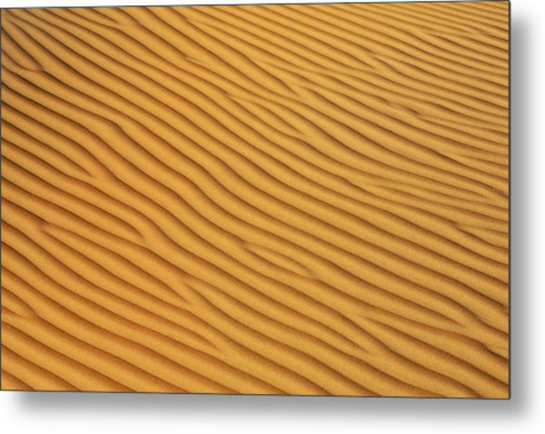 Patterns In The Sand In Wahiba Sands Metal Print