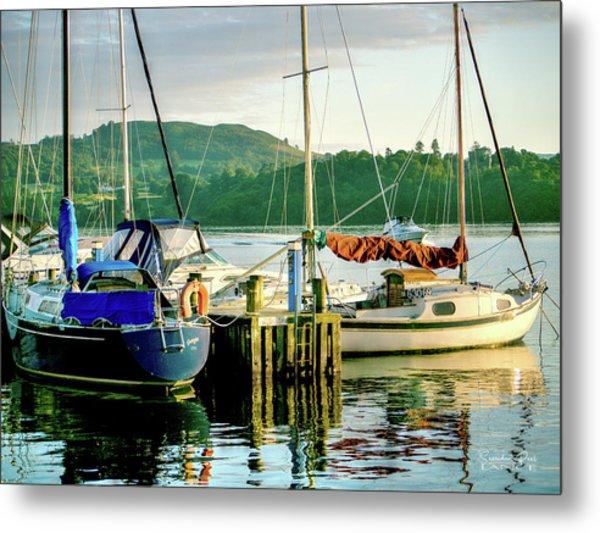 Peace In Lake Windermere Metal Print