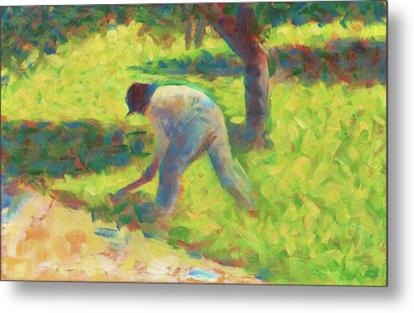 Peasant With A Hoe - Digital Remastered Edition Metal Print
