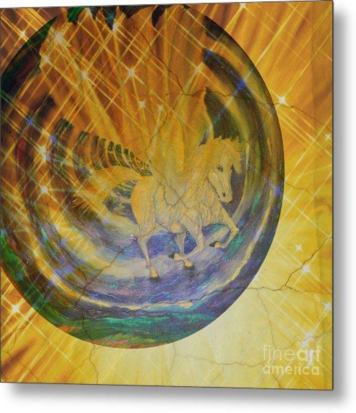 Metal Print featuring the mixed media Pegasus Golden Ray by Sabine ShintaraRose