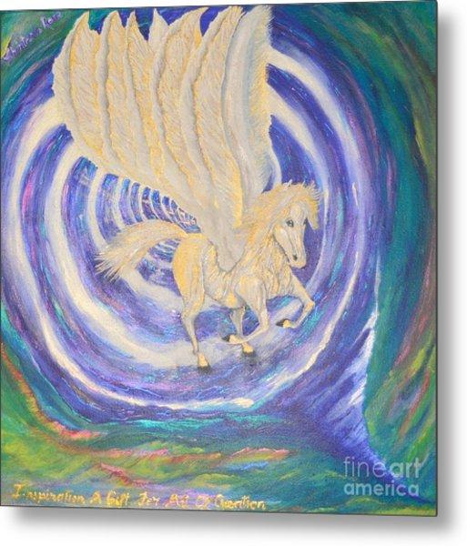 Metal Print featuring the painting Pegasus Vortex by Sabine ShintaraRose