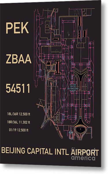 Pek Beijing Capital Airport Metal Print
