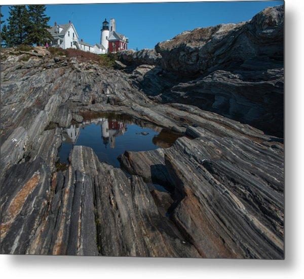 Metal Print featuring the photograph Pemaquid Lighthouse by Rick Hartigan