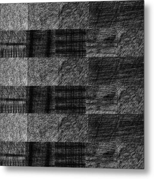 Pencil Scribble Texture 1 Metal Print