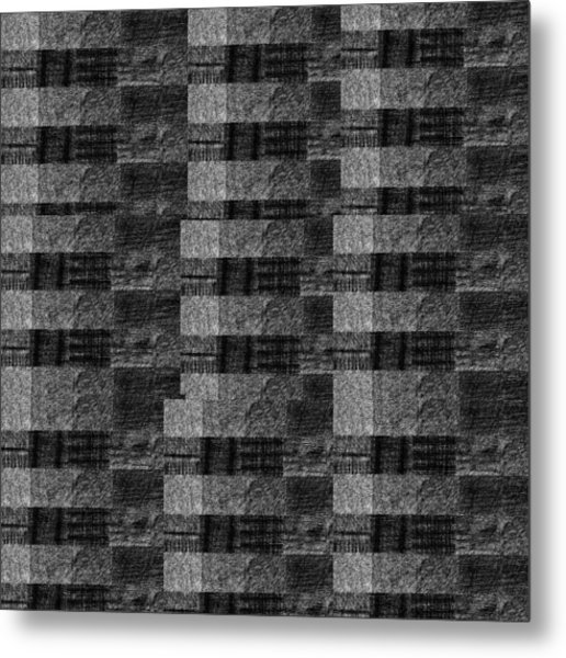Pencil Scribble Texture 2 Metal Print