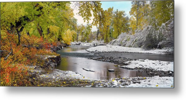 Metal Print featuring the photograph Perfect Autumn Day by Leland D Howard