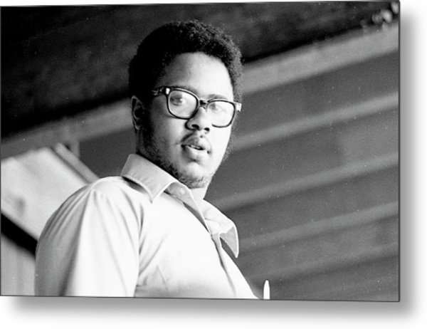 Perturbed High School Student, With Substantial Eyeglasses, 1972 Metal Print
