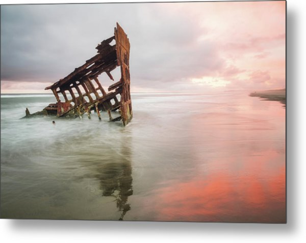 Metal Print featuring the photograph Peter Iredale Shipwreck by Nicole Young