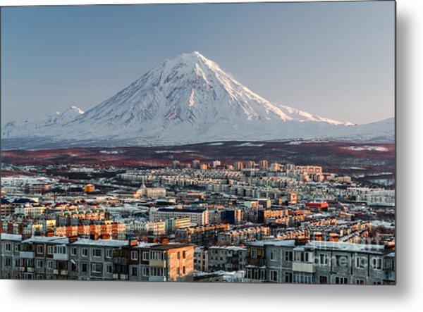 Petropavlovsk-kamchatsky Cityscape And Metal Print by Alex Tihonovs