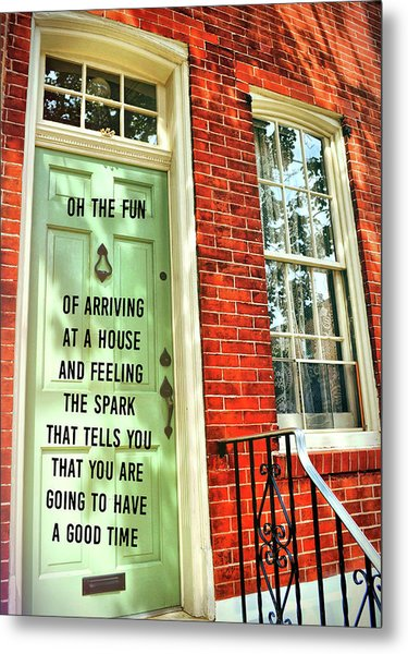 Philly Welcome Quote Metal Print by JAMART Photography