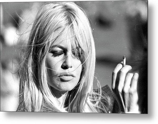 Photo Of Brigitte Bardot Metal Print