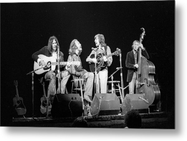 Photo Of Crosby, Stills, Nash & Young Metal Print