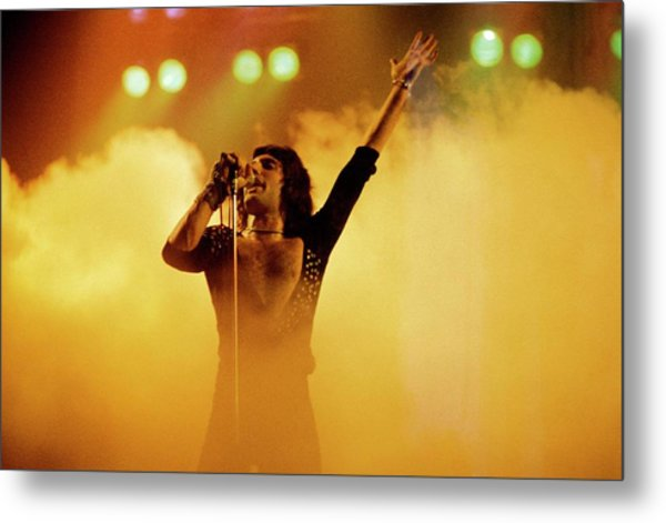 Photo Of Freddie Mercury And Queen Metal Print