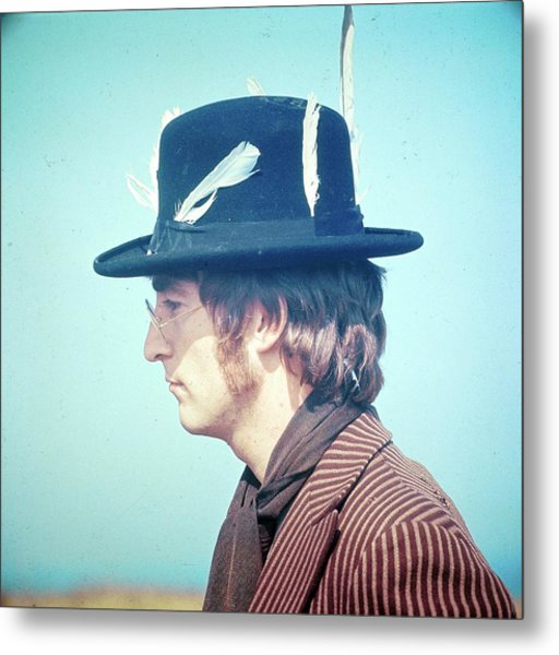 Photo Of John Lennon Metal Print