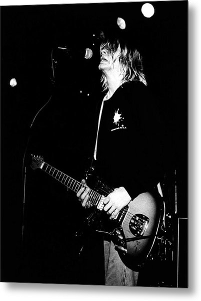 Photo Of Kurt Cobain And Nirvana Metal Print by Paul Bergen