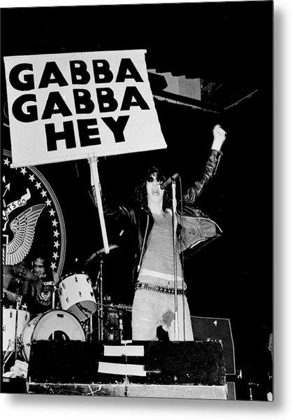 Photo Of Ramones Metal Print by Larry Hulst