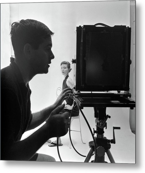 Photographing Bettina Metal Print by Gordon Parks