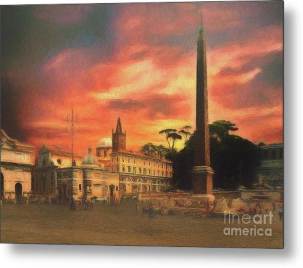 Piazza Del Popolo Rome Metal Print