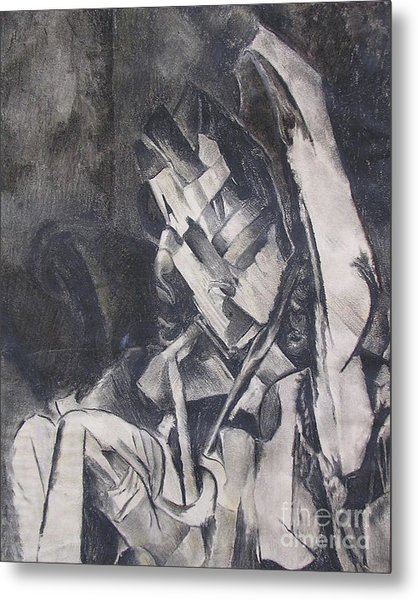 Metal Print featuring the drawing Picasso Study by Rosanne Licciardi