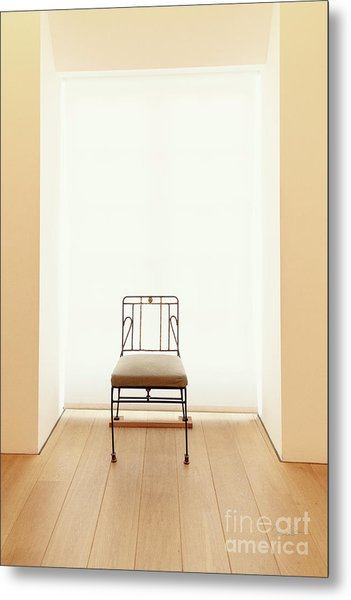 Picasso's Museum Chair Metal Print