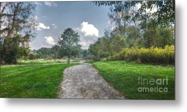 Pickerington Ponds Walkway Metal Print