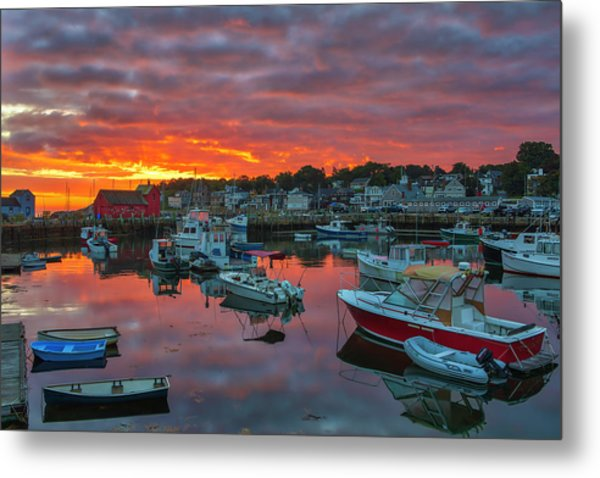Metal Print featuring the photograph Picturesque Rockport  by Juergen Roth