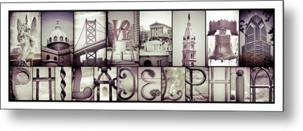 Pieces Of Philly Metal Print