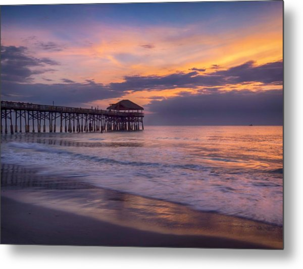 Pier Greeting Metal Print