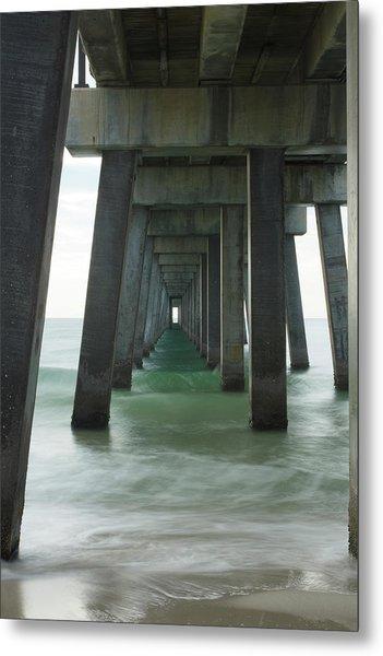Pier Roll Tide Metal Print