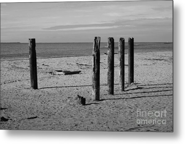 Pier Watch Metal Print