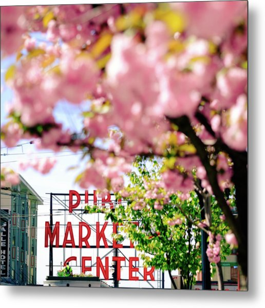 Metal Print featuring the photograph Pike Place Market In Seattle by Nicole Young