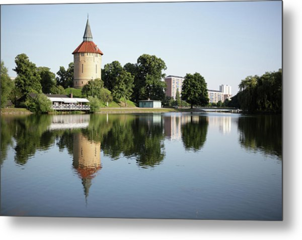 Pildammsparken In Malmo Metal Print by Secablue