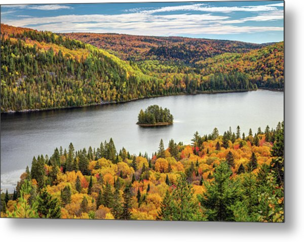Metal Print featuring the photograph Pine Island At Wapizagonke Lake by Pierre Leclerc Photography