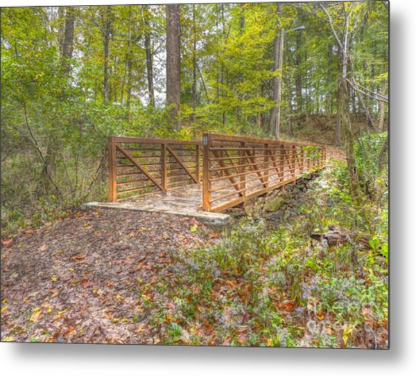 Pine Quarry Park Bridge Metal Print
